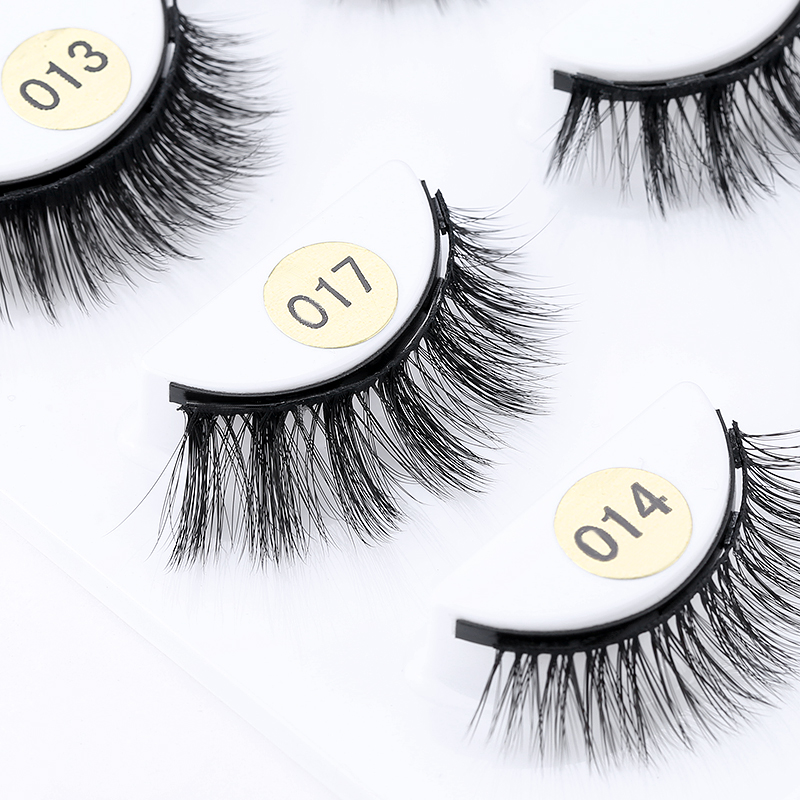 3Pairs of Glue-free Magnetic Eyelashes set Magnet Liquid Eyeliner Tweezer Set Waterproof Long Lasting Reusable Eyelash Extension 2