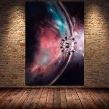 Interstellar filme pintura da lona a óleo cartazes e impressões cuadros arte da parede fotos para decoração casa quarto das crianças sem moldura