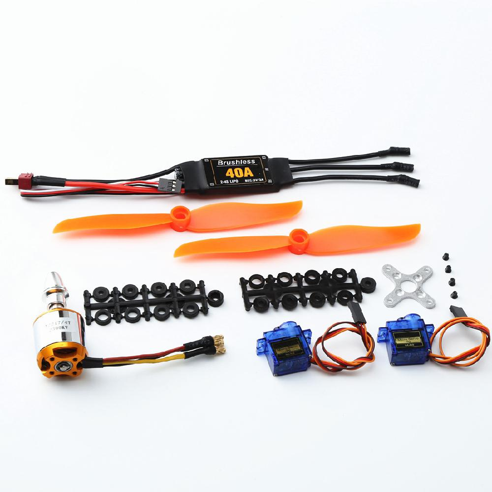 A2217 KV2300KV Brushless Motor 40A ESC SG90 9G Micro Servo <font><b>6035</b></font> <font><b>Propeller</b></font> for RC Fixed Wing Plane Helicopter image