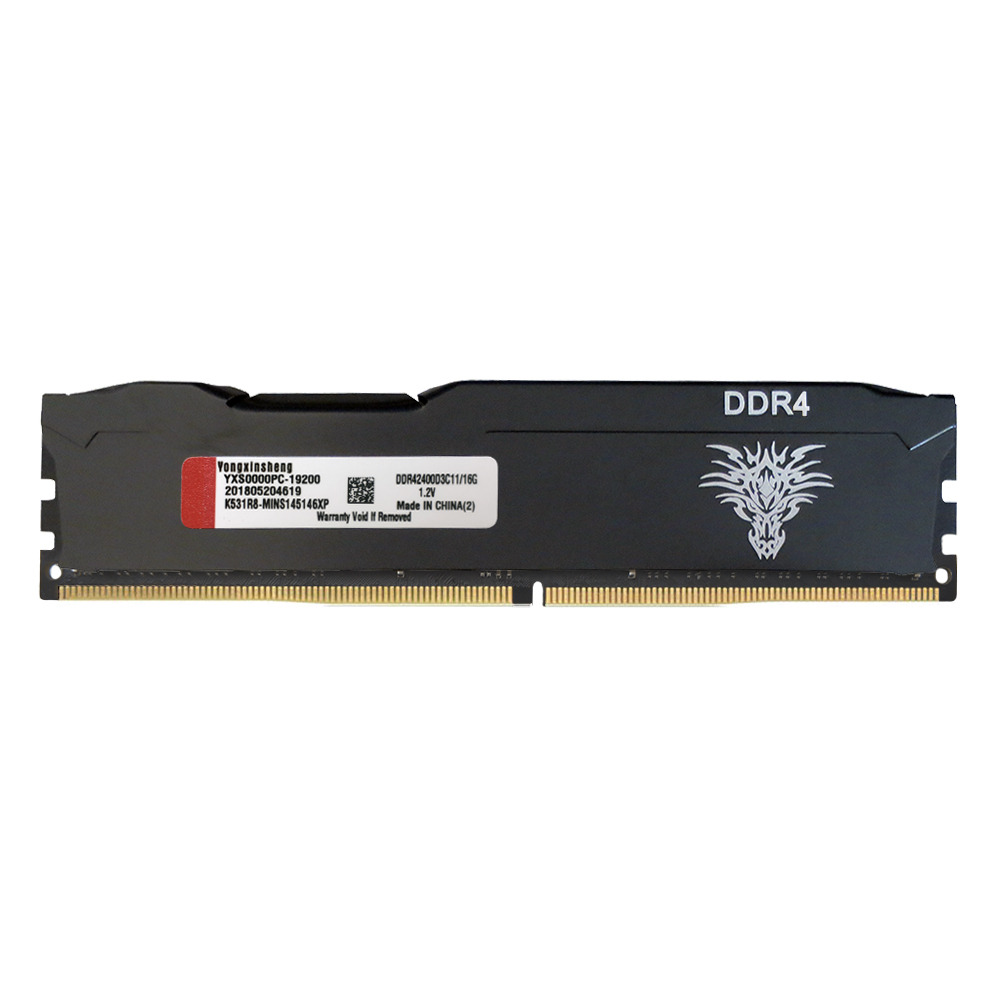 Yongxinsheng 4GB 8GB 16GB DDR4 RAM Stick 2133 2400 2666vMHz 288 PIN Intel Desktop Memory RAM PC4-17000 19200 21300 16banks