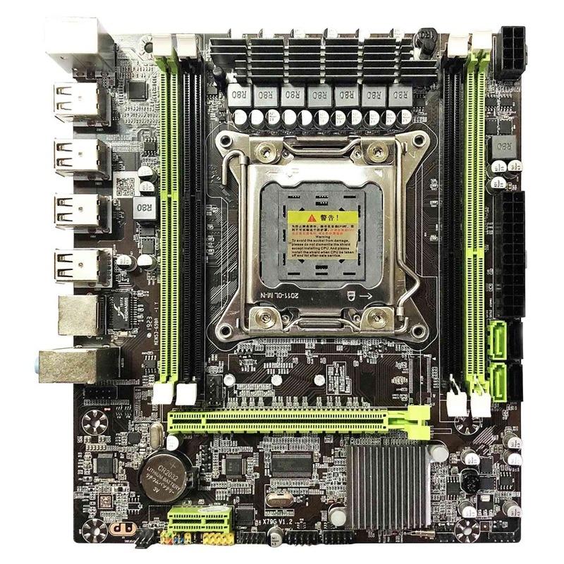 X79 Motherboard Lga 2011 4xDdr3 Dual Kanal 64Gb Speicher Sata 3,0 Pci-E 8Usb für Desktop Core I7 Xeon E5