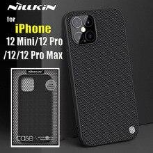 NILLKIN – coque arrière texturée en Fiber de Nylon pour iPhone, compatible modèles 6, 11 Pro Max, 12 Mini, X, Xs Max, Durable, antidérapante