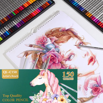 New 150 Oil Colors Colored Pencils Set Colorful Painting Drawing Wooden pencil for Girl Boy School Art Coloured Stationery
