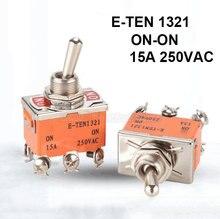 2 шт e ten1321 on 15a 250vac тумблер кулисный переключатель