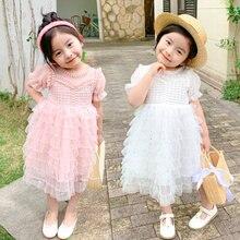 Платье для девочек 2020 летняя брендовая одежда кружевное и
