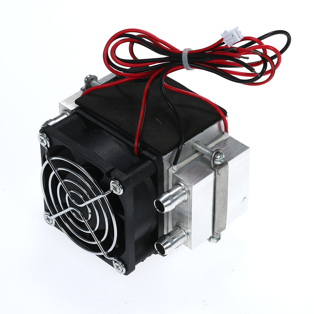 DIY 12V TEC Electronic Peltier Semiconductor Thermoelectric Cooler Refrigerator Water-cooling Air Condition Movement