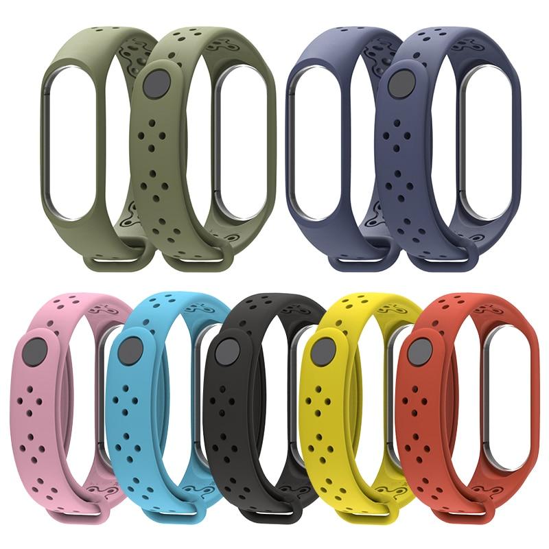 Smart Bracelet Strap For Waterproof Porous Breathable Xiaomi Mi Band 4 Silicone Wriststrap For Xiaomi Mi4 Smart Bracelet
