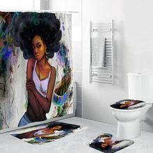 Занавеска для душа с короной женщин 3d занавеска в Африканском