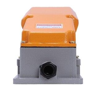 Image 5 - New LT4 Voetschakelaar Aluminium Case Treadle Voetpedalen Voor Machine Tool Control Zilver Contact