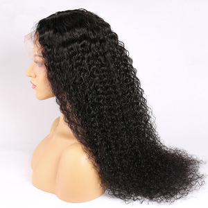 Image 4 - Alibele Malaysian Deep Wave Curly Lace Front Wig 150% Pre Plucked 13x4/4x4 Lace Closure Wigs Short Long Malaysian Human Hair Wig