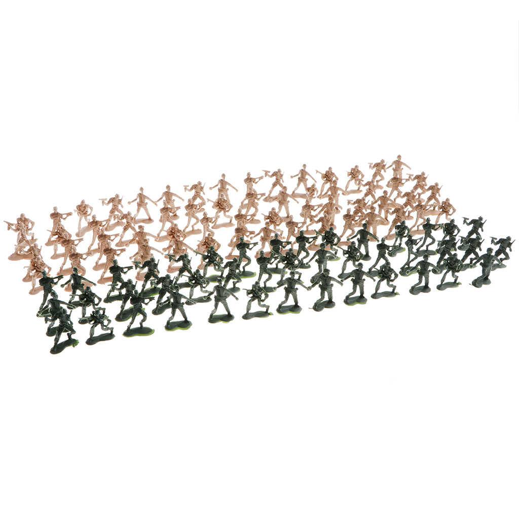 100 x wojskowi żołnierze sił zbrojnych zestaw zabawek, figurki dla dzieci, udawaj, że bawisz się zabawkami edukacyjnymi