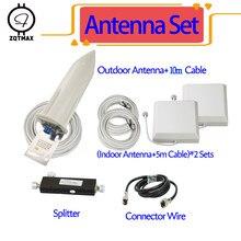 ZQTMAX – antenne pour booster de signal cellulaire 2g/3g/4g, 800/850/900/1800/1900/2100/2300 mhz, ensemble de pièces, CDMA, GSM, DCS, WCDMA
