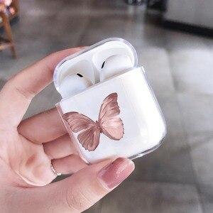 Image 4 - Airpods 프로 2 케이스에 대한 패션 아름다운 나비 케이스 에어 포드에 대한 귀여운 만화 하드 이어폰 커버 2 프로 충전 박스 capa
