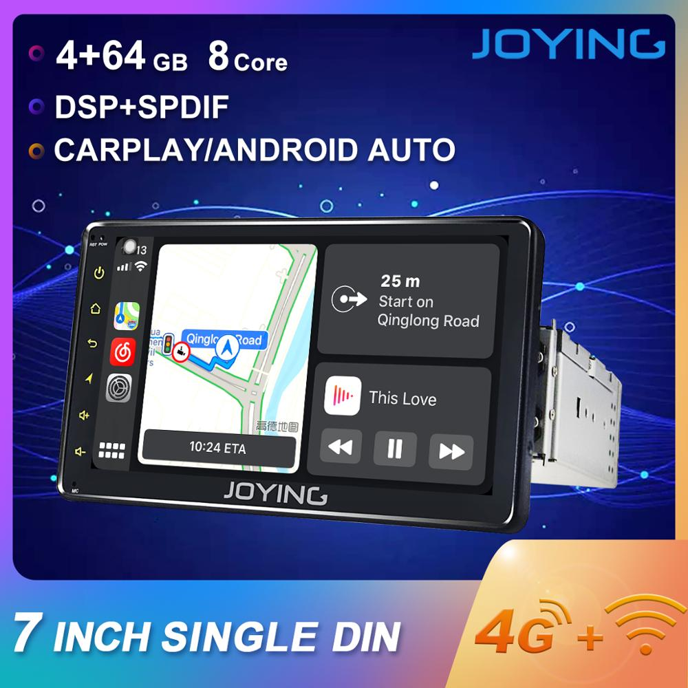 JOYING 1 DIN Android 8.1 Universal 7 Car Radio Stereo Octa Core Head Unit GPS Navigation 4GB+64GB GPS support 4G DSP autoradio image