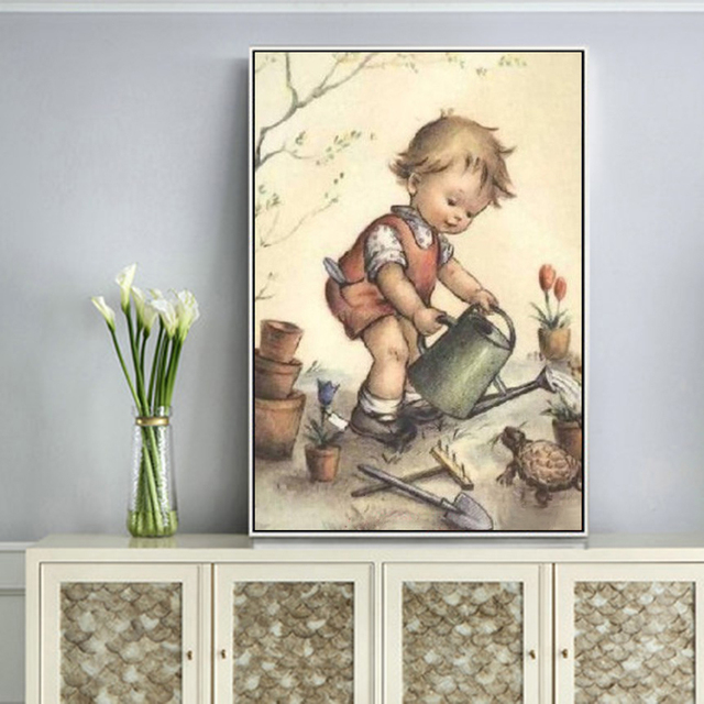 Huacan 5d Diamond Painting New Arrivals Boy Farmhouse Home Decor Embroidery Full Display Child Handmade Gift