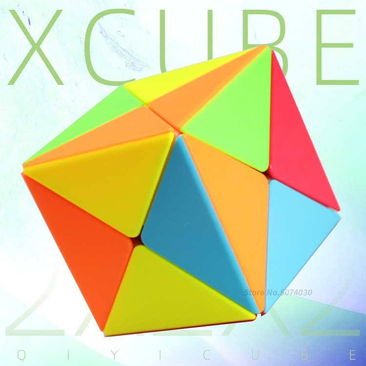 Qiyi Xcube 2x2 X Cube Cubo Magico Stickerless Specail Puzzles Education Toy Antistress Toys For Children Strange Shape