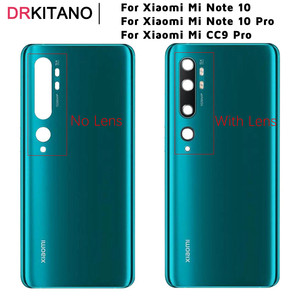 for Xiaomi Mi Note 10 Pro Battery Cover Rear Glass Door Housing+Camera Lens for Xiaomi Mi Note 10 Mi CC9 Pro Back Battery Cover