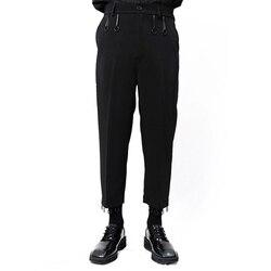 Yamamoto style Yoji men's slacks are slightly loose, circular, dark, simple and original