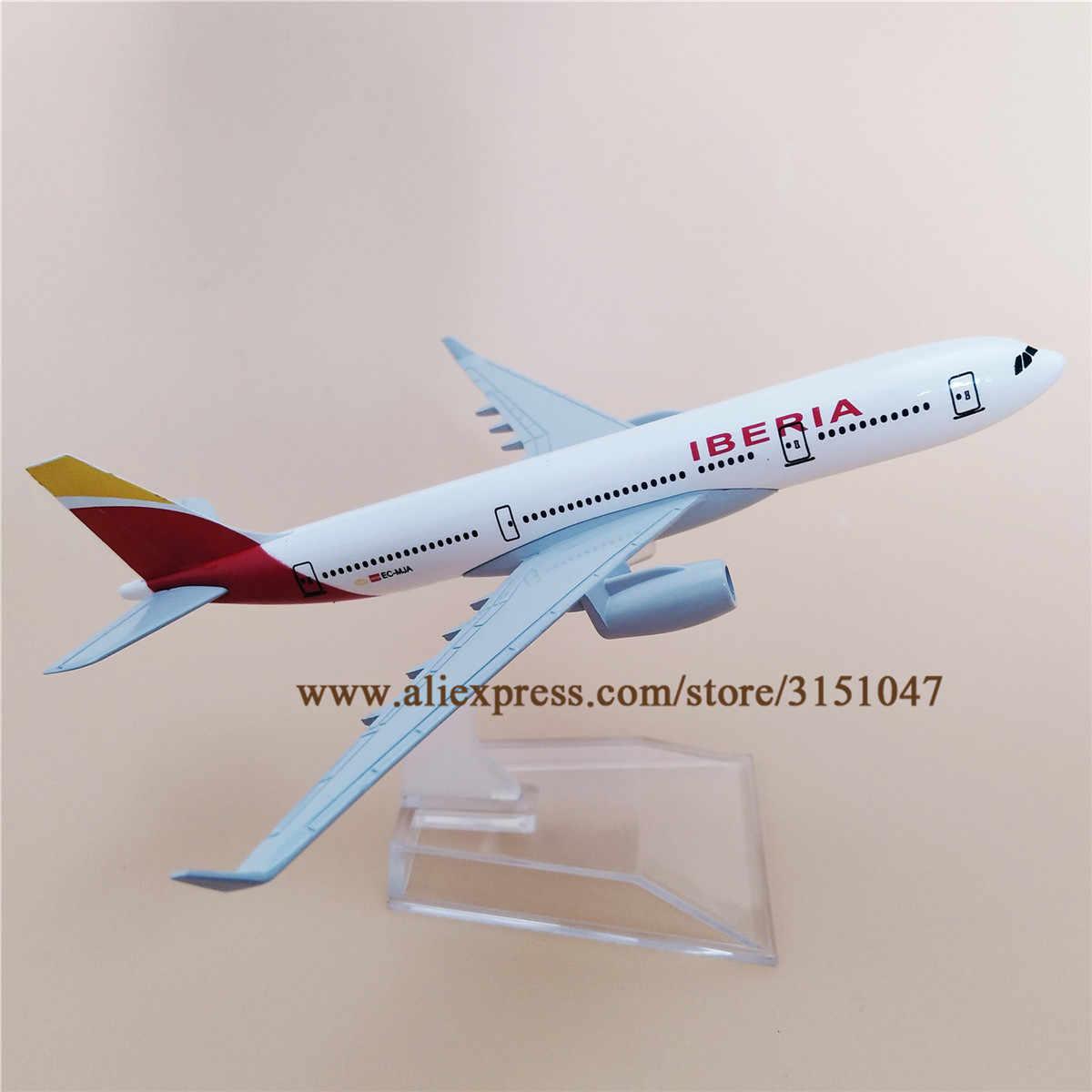 16cm Air Spain IBERIA aerolíneas A330 Airbus 330 modelo de avión aleación Metal avión Diecast juguete niños regalo