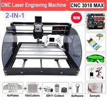 Diy cnc 3018 pro max máquina do gravador do roteador do laser com 500mw 2500mw 3500mw 5500mw 15w módulo