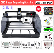 Enrutador láser CNC 3018 PRO MAX, máquina de grabado con módulo de 500MW, 2500MW, 3500MW, 5500MW, 15W