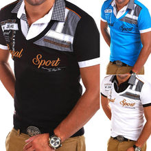 ZOGAA Men's Polo Shirt Brand Printed Short Sleeve Casual Male Polos Turn-down Collar Slim Polo Shirt Tops Polo homme de marque стоимость
