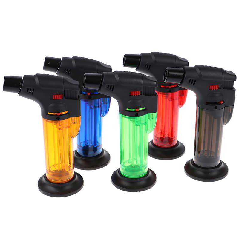 Torch Lebih Ringan Butane Jet Gas Lighter Turbo Portable Spray Gun Windproof Cigar Pipa Lebih Ringan Outdoor BBQ Dapur Las