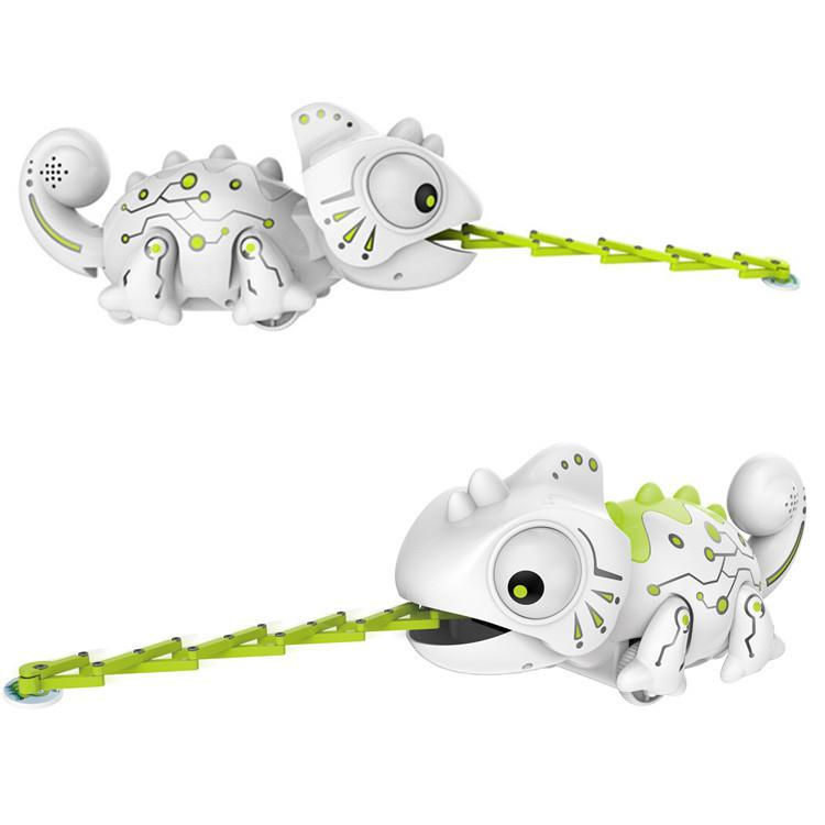Rc robô brinquedos de controle remoto camaleão