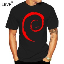 Debian Spiral Linux T Shirt T shirt best friend dad grandpa uncle mom ever aunt bucking for women(China)
