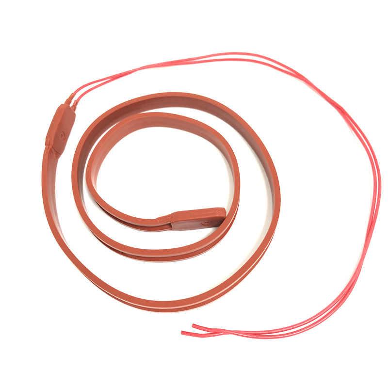 20mm 12V 24V 36V 110V 220V alambre de la calefacción de silicona cinta térmica de goma de silicona envoltura alambres térmicos almohadilla Placa de aislamiento resistente