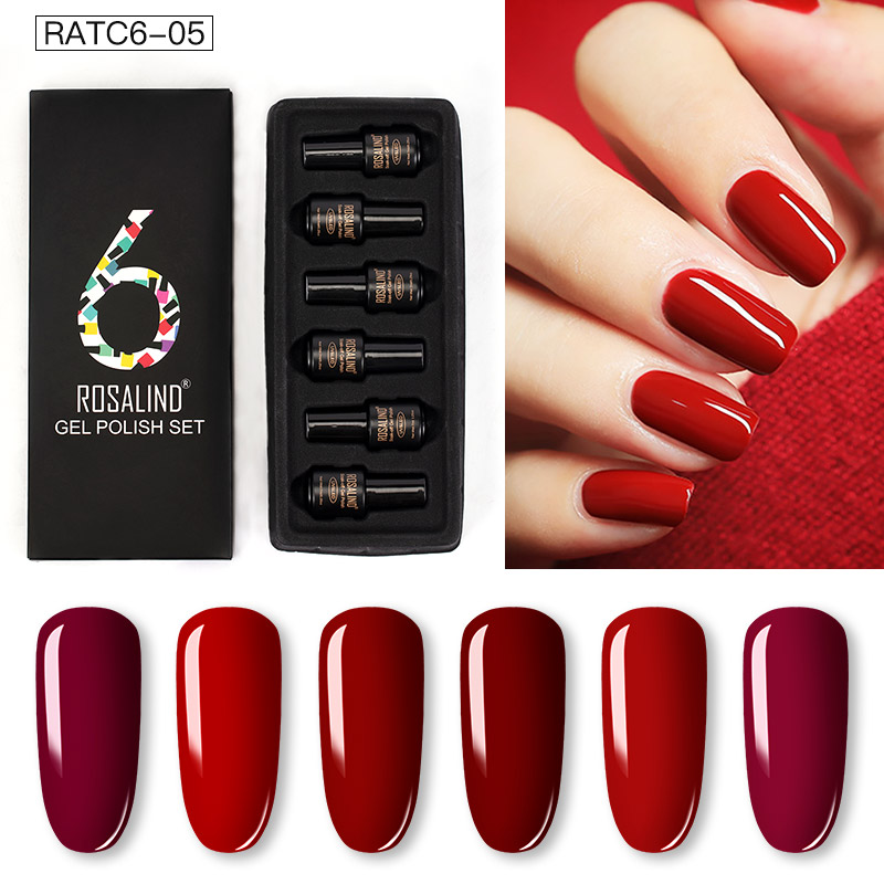 ROSALIND Gel Nail Polish Set Solid Color Nail Kit For Manicure Vernis Semi Permanent 7ML Gel Kit Top And Base All For Manicure 20