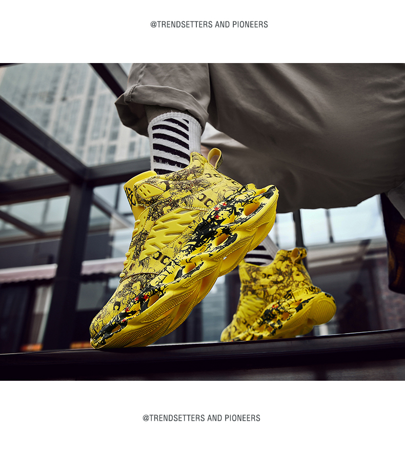 H604885a0c8d748459643e33f7ca45fc8i Fashion Men's Hip Hop Street Dance Shoes Graffiti High Top Chunky Sneakers Autumn Summer Casual Mesh Shoes Boys Zapatos Hombre
