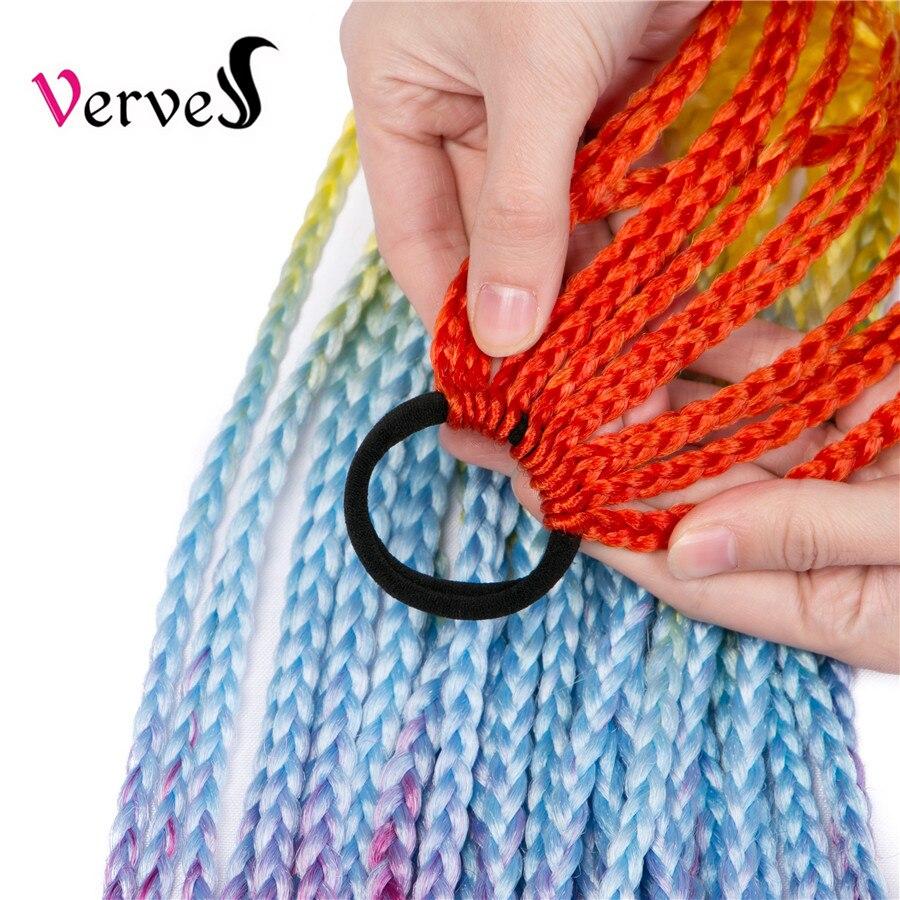 faixa de borracha chignão 24 polegadas crochê