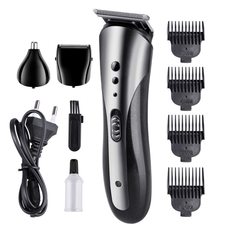 All In1 Rechargeable Hair Clipper For Men Waterproof Wireless Electric Shaver Beard Nose Ear Shaver Hair Trimmer Tool