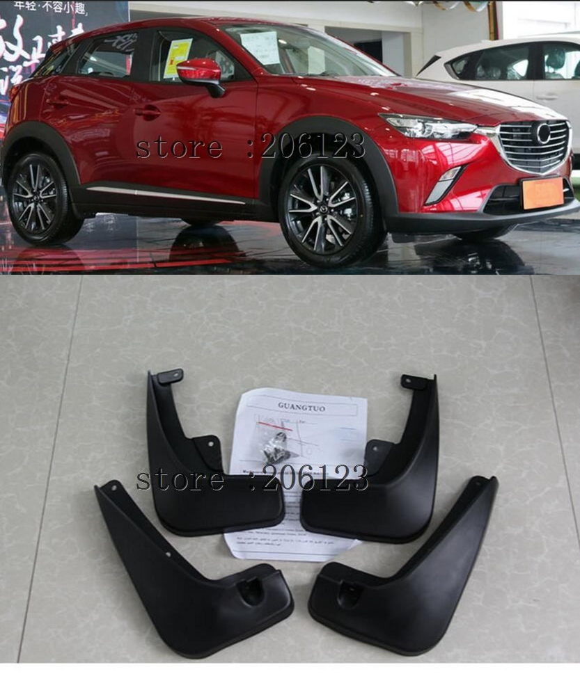 Set Molded Car Mud Flaps For Mazda CX-3 CX3 2016 - 2018 Mudflaps Splash Guards Mud Flap Mudguards Fender Front Rear 2017