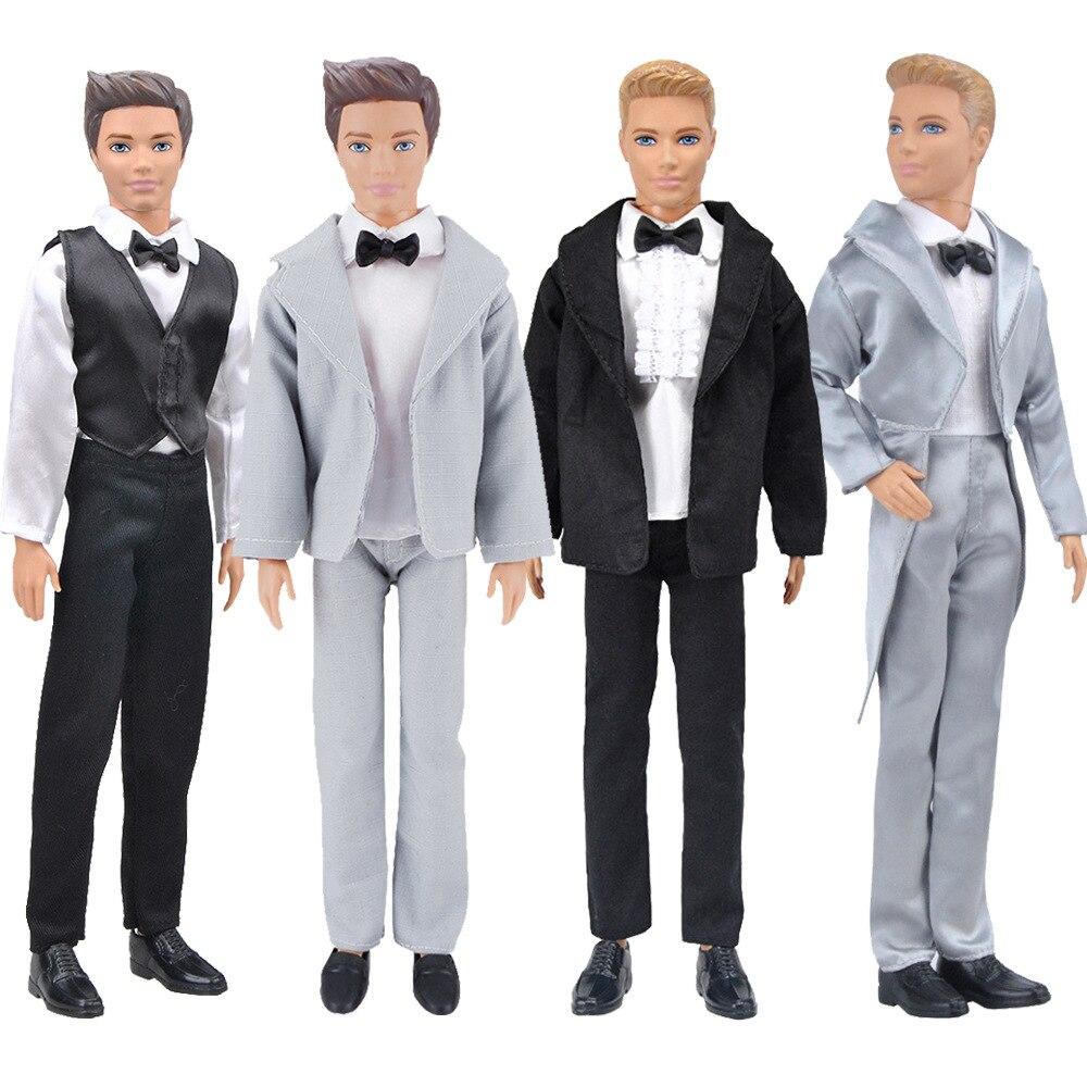 30 см Кен куклы костюм свадебный костюм парень Кэн мужчина одежда смокинг мягкого плюша; Аксессуары для куклы