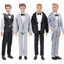 30cm ken roupas de boneca ken terno de casamento namorado ken masculino homem vestir roupas smoking bonecas acessórios