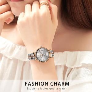 Image 5 - Sunktaニュー · ローズゴールド女性腕時計ビジネスクォーツ時計レディースtopブランドの高級女性腕時計時計レロジオフェミニン