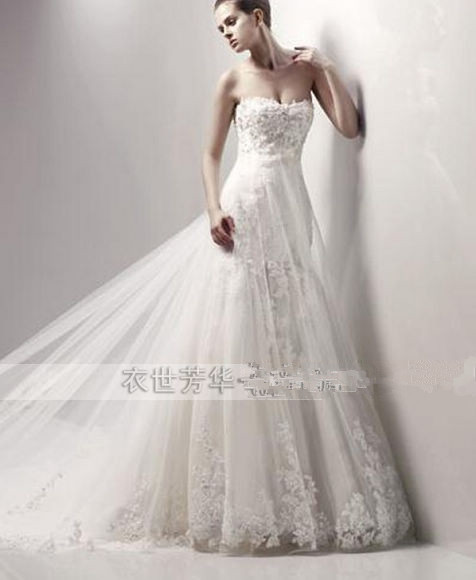 Free Shopping Mermaid Wedding Dress Lace Up 2015 Brides Bridal Gown New Sexy Hot Lace Appliques Beading Long Casamento