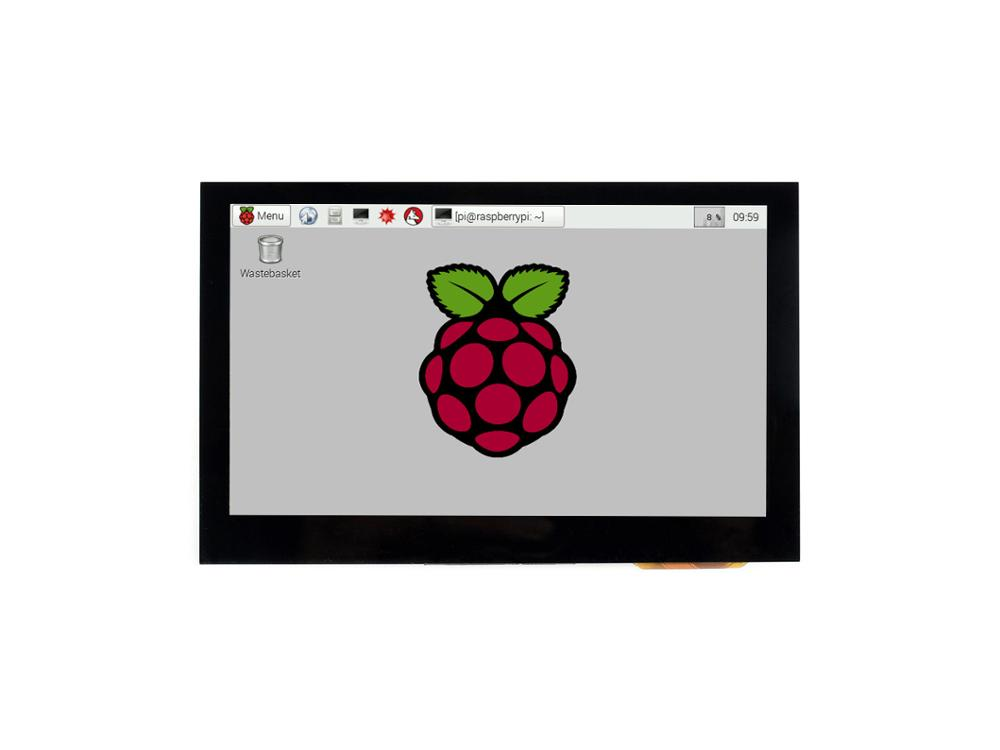Waveshare 4.3inch Capacitive Touch Display For Raspberry Pi, 800*480, IPS Wide Angle, MIPI DSI Interface