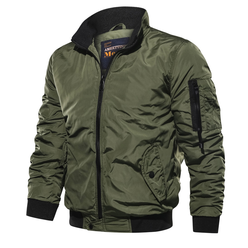 Jacket Men Coats Windbreaker Bomber Pilot Army Military 5XL Outwear Spring Autumn Casual