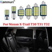 KAMMURI 100% Error Free White LED Car Interior Light Package Kit For 2001-2020 Nissan X-Trail T30 T31 T32 LED Interior Lights