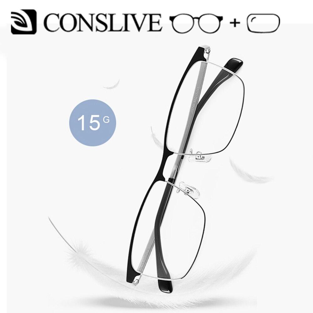 2019 nuevas gafas de prescripción para hombres gafas dióptricas de titanio gafas ópticas multifocales Vintage monturas lentes transparentes J85740 - 5