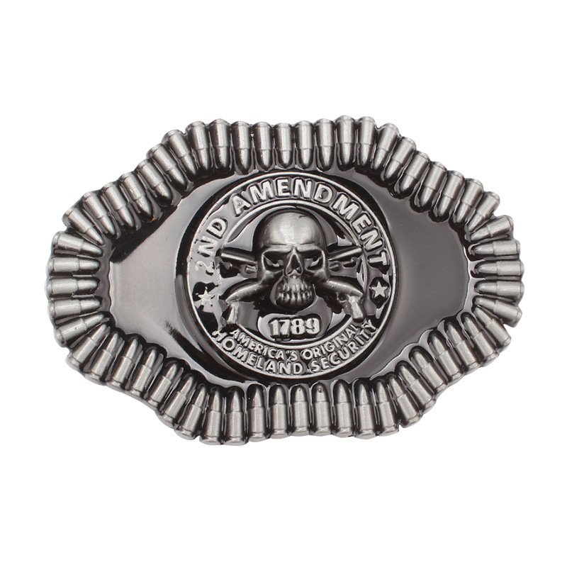 Skull Skeleton Belt Buckle Belt DIY Accessories Western Cowboy Style Smooth Belt Buckle Punk Rock Style K35