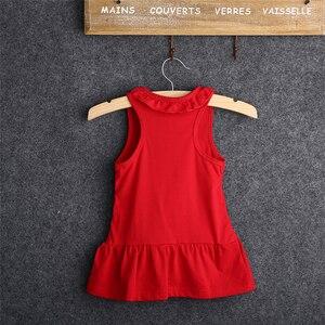 Платье для маленьких девочек 2021, летние топы из 100% хлопка, платье без рукавов, модное платье с мультяшным рисунком, топы для маленьких девочек с мультяшным рисунком, платье