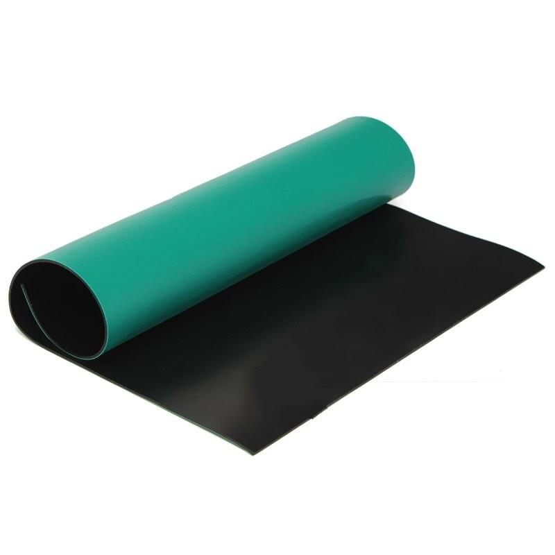 Green Desktop Anti Static ESD 300x400mm Grounding Mat For Phone PC Tablet Repair