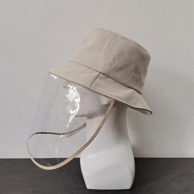 Virus Protective Face Shield Mask Cover Hat Anti Spitting Saliva Drool Fisherman Cap Clear Facial Mask Splash Anti-Fog Anti-Oil 5