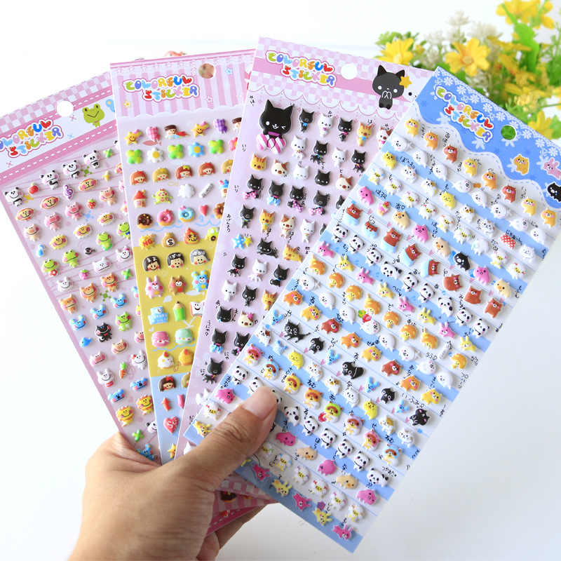 Kawaii Mooie Kleine Dier Schuim 3D Decoratieve Briefpapier Stickers Scrapbooking DIY Dagboek Album Stok Label