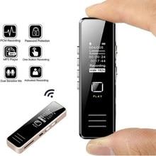 Gravador de som usb 32gb recarregável gravador de som de áudio digital ditaphone mp3 player dsp redução de ruído hd gravação remota