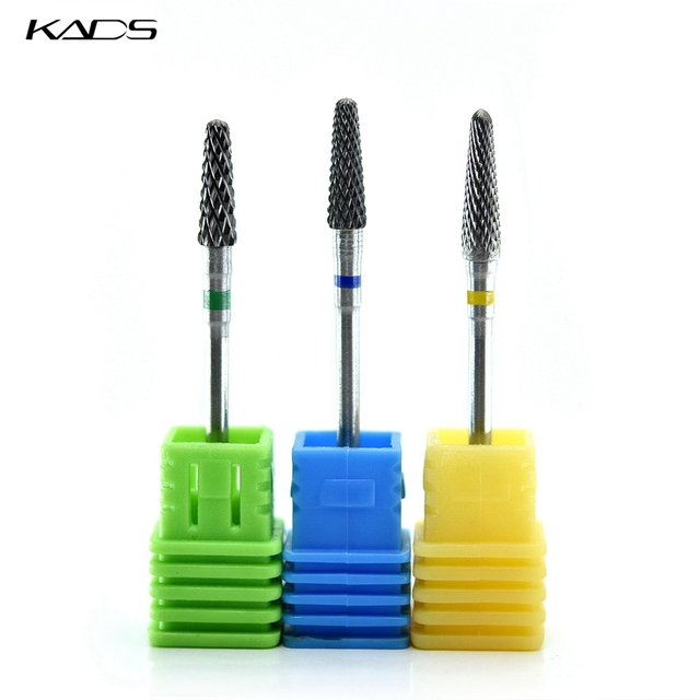 KADS Carbide Milling Cutter Burrs Tungsten Nail Drill Bits Electric Manicure Drill Machine Accessories Rotary Nail Art Tool 5